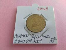 MONACO PIECE 50 CENTIMES EURO CENT 2001 - REF43449