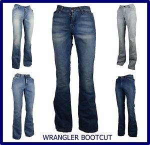 Wrangler jeans pantaloni da uomo a zampa bootcut svasati slim fit 28 w29 w30 w31