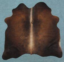 peau de vache fourrure taureau Tapis en noir marron beige (1074) TANNERIE Birke