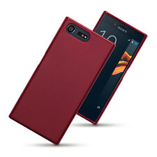 Thin Rubber Jelly Case Cover for Sony Xperia X Compact - Red Matte