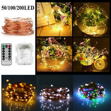 LED String Fairy Lights Battery Home Twinkle Decor for Party Christmas Garden UK