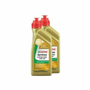 Castrol Syntrax L.S.D SAE 75W140 Synthetic Gear Oil 1 Litre X 2