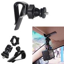 Auto Car Sun Visor Clip Holder 1/4 Screw Mount for Sports Camera Accessories GPS