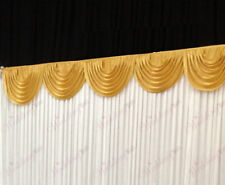 3m Gold Detachable Swag for Wedding Backdrops and Table Skirts