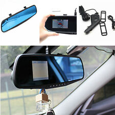 "Car SUV Night Vision 2.8"" HD DVR Rearview Mirror Video Recorder Camera Tachograp"