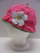 Gymboree Girl's Pink Polka Dot Flower Hat Size 2T-3T