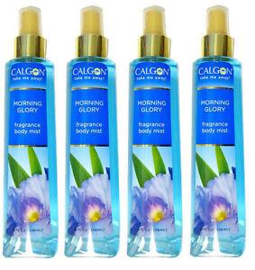 4 PACK Calgon Body Mist Spray Morning Glory 8oz 031655273419YN