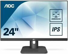 "AOC 24E1Q 23.8"" Widescreen IPS LED Black Monitor (1920x1080/5ms/HDMI/DP,VGA)"