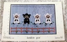 ~ NEW LITTLE MEMORIES LAMBIE PIE SMOCKING DESIGN PLATE SHEEP ADORABLE  ~