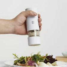 Huohou 5 In 1 Electric Pepper Salt Spice Grinder Seasoning Mill Tools white
