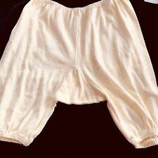 Antique Vintage Edwardian 1900s Ivory Cotton Knit Underwear Panties Bloomers