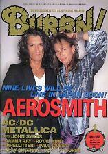Burrn! Heavy Metal Magazine January 1998 Japan Aerosmith AC/DC Iron Maiden