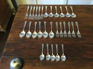 Vintage Superb Quality Silver Plate Rodd ACANTHUS 29 Piece Cutlery Set