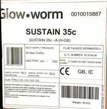 GLOW WORM 35c SUSTAIN COMBI GAS BOILER 0010015887 VAT INCLUDED FREE DELIVERY*