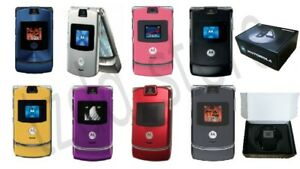 Motorola RAZR V3 - Original Retro Flip Cellphone full set (10 colors available)