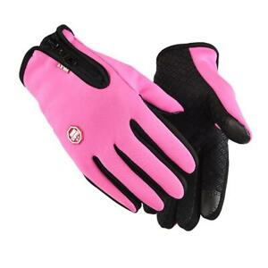 Motorcycle Gloves Unisex Touchscreen Thermal Warm Cycling Bicycle Bike ab3 CU21