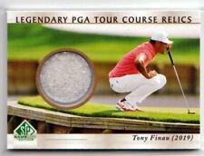 New listing 2021 UD Artifacts Golf TONY FINAU LEGENDARY PGA TOUR COURSE RELIC!