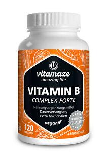 (€22,18/100g) Vitamin B Komplex Tabletten hochdosiert vegan Biotin Folsäure