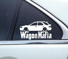 Lowered WAGON MAFIA sticker - for Subaru Impreza wagon 1st gen GF8 WRX jdm