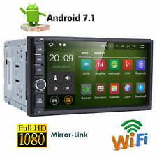 4 Core Android 7.1 Car GPS Receiver 2 DIN Radio Stereo OBD2 WIFI SWC SAT Nav