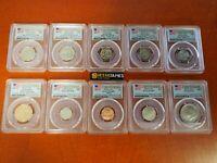 2017-S 10 coin 225th Enhanced Unc set PCGS SP69 FDI Washington DC