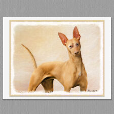 6 Cirneco dell'Etna Dog Blank Art Note Greeting Cards