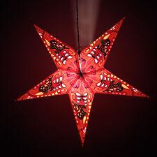 Estrella De Luz Lámpara Colgante De Papel Roja Navidad Festivo Decoración Lámpara Estrella Latern