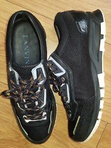 Genuine Lanvin Runner Men's Dark Grey Trainers Size UK 7 IN GREAT CONDITION