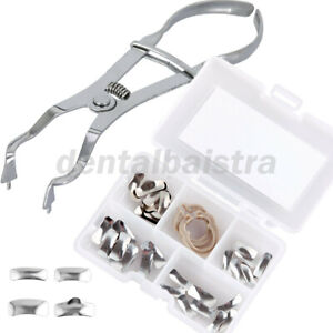 Dental Orthodontic Sectional Contoured Metal Matrices Matrix Refill Rings&Plier