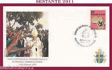 W57 VATICANO FDC ROMA VISITA GIOVANNI PAOLO II AFRICA SENEGAL GAMBIA GUINEA 1992