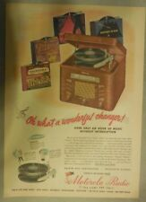 Motorola Ad: Oh What A Wonderful Charger Phonograph! from 1945