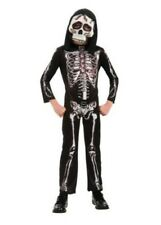 Boys Skeleton Costume Child Haunted House Halloween Fancy Dress, Rubies - S