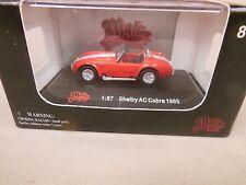Ho Scale 1/87 Malibu 1965 Shelby Cobra Red