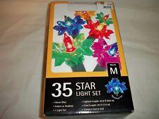 35 Vintage Christmas Multi Color  Star Reflector Light  Plastic