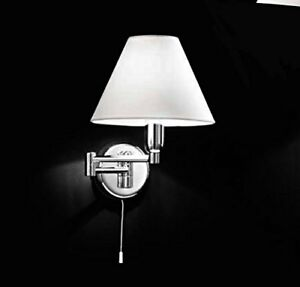 Lamp Applique Jointed Chrome Polished Lampshade PVC Perenz 4016 CL 33X25