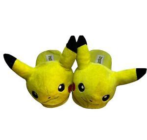 Pokemon Pikachu Stuffed Plush Slippers Unisex Adults & Kids XL 2016 #HS35M8POK