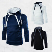 Coat Sweater Fit Hoodies Warm Outwear Sweatshirt Winter Jacket Slim Hooded Men's