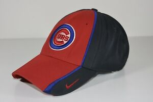 Chicago Cubs Team MLB Baseball Hat Cap Fitted Blue/Red/Gray Vintage Nike