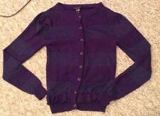 LITTLE MARC JACOBS deep purple sparkle button down cardigan size 14