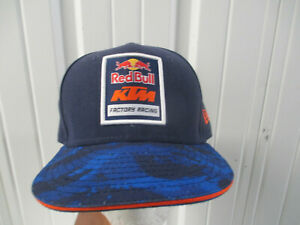 VINTAGE NEW ERA RED BULL KTM FACTORY FITTED 7 1/4 HAT CAP MOTORCYLE GP RACING
