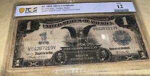 1899 Black Eagle Silver $1 Certificate PCGS F12 Teehee/Burke Signed Fr 233
