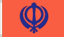 SIKH FLAG 5' x 3' Sikhs Flags India Indian Sikhism Khanda Asia