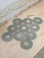 10 pcs THK Diamond 50mm rotary cutting wheel GRIT 60 cut off blade blades disc