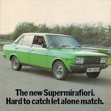 Fiat 131 supermirafiori 1600 tc concurrent comparaison 1978 uk market brochure