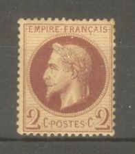 """FRANCE STAMP TIMBRE N° 26a """" NAPOLEON III 2c ROUGE-BRUN FONCE """" NEUF xx TB"""