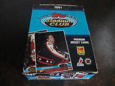 1991-92 Stadium Club Hockey Box---36 Packs---Gretzky, Lemieux, Sakic, Jagr, Roy