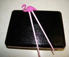 BENTO BOX SET Pink Flamingo TRAINING beginner Chopsticks Japanese obento boxes