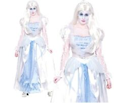 Ladies GORGEOUS GHOST BRIDE Halloween Adult Fancy Dress Costume UK Sizes 6-28