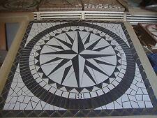 Rosace/Mosaique en carrelage 100x100 cm  Rose des vents avec lettres