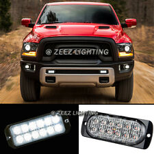 1X White 12 LED Emergency Hazard Flash Caution Strobe Beacon Warning Light Bar93